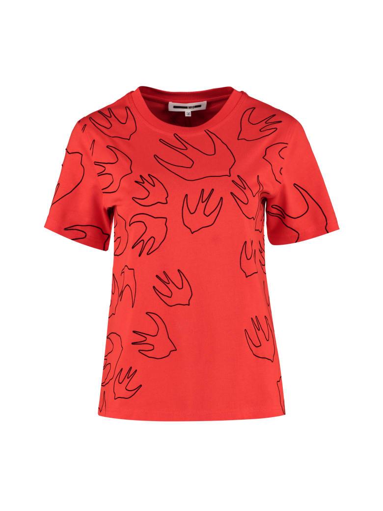 McQ Alexander McQueen Cotton T-shirt - Mcq Swallow - red