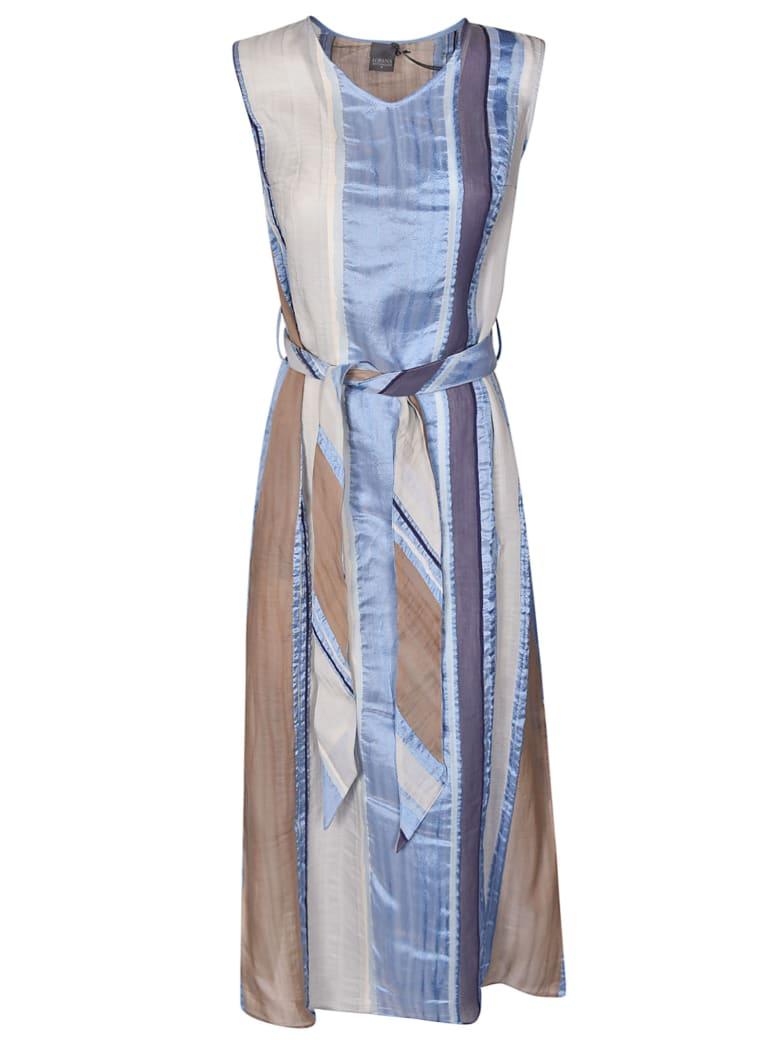 Lorena Antoniazzi Striped Dress - Light Blue/Beige