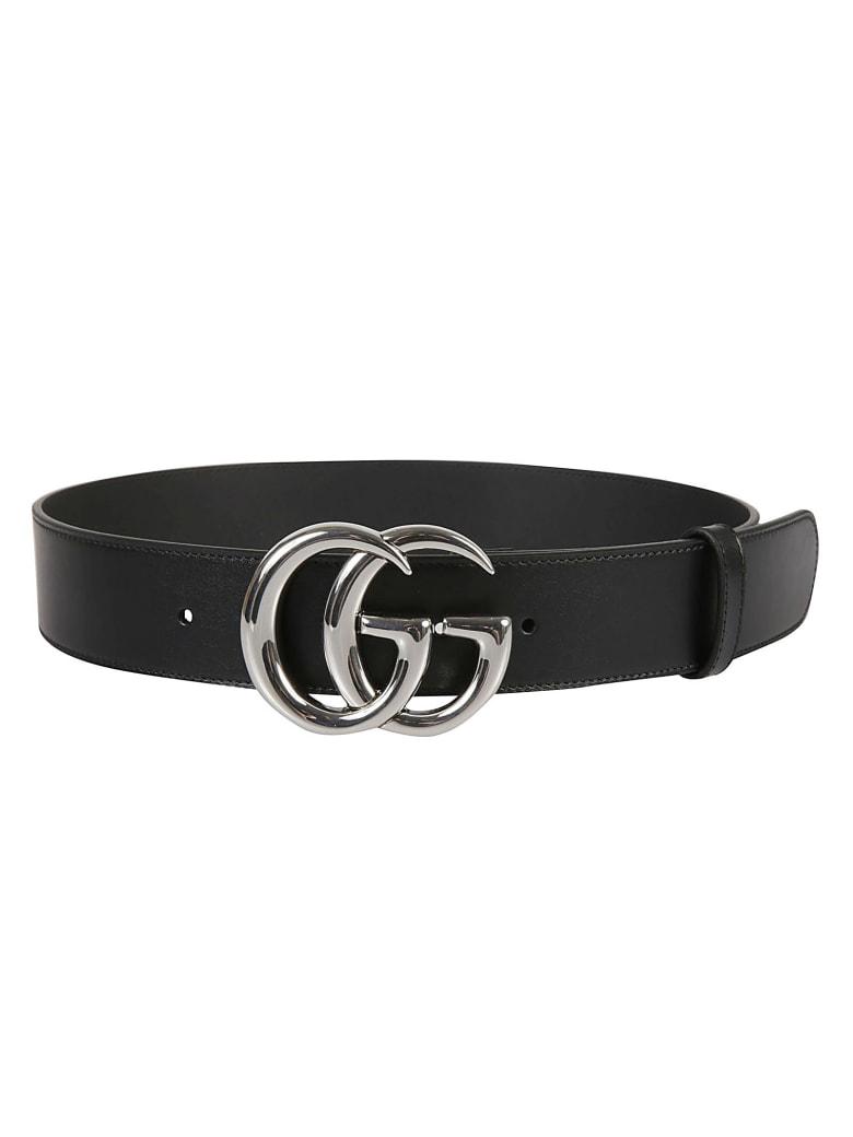 Gucci Double G Buckle Belt - Black/Silver