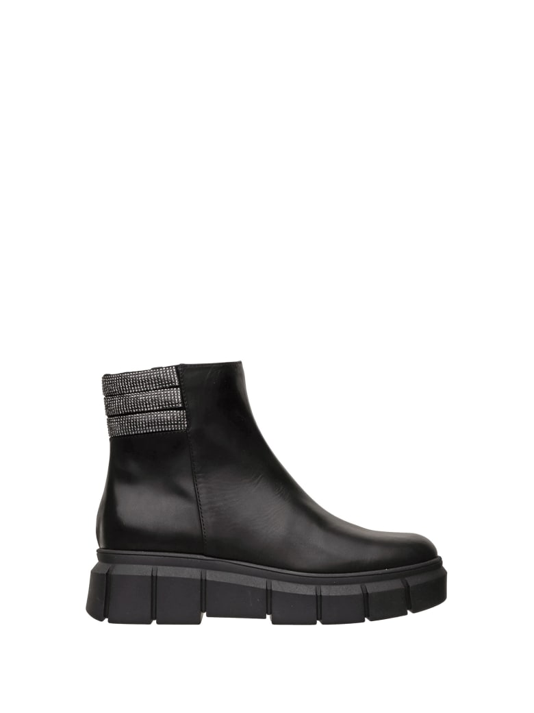 Ninalilou Ninalilou Black Snow Ankle Boot - NERO