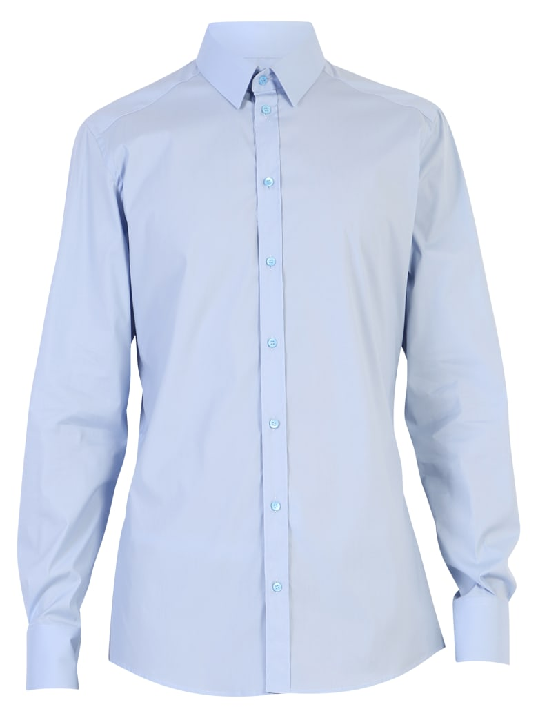 Dolce & Gabbana Light Blue Stretch Shirt - Blue