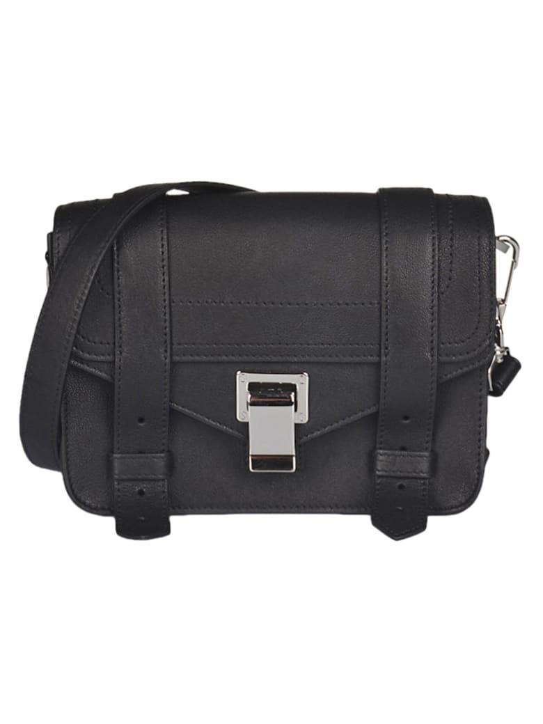 Proenza Schouler Snap-lock Detachable Strap Envelope Shoulder Bag - Black