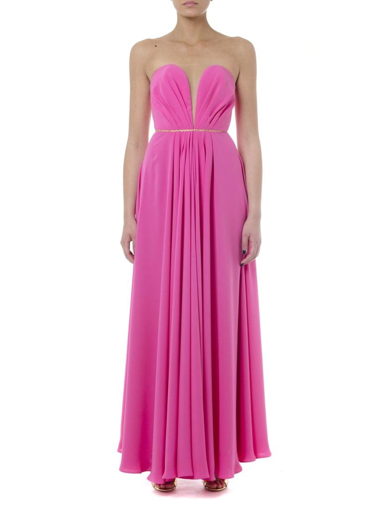 Rhea Costa Long Stretchy Fuxia Heart Shape Dress - Fuxia