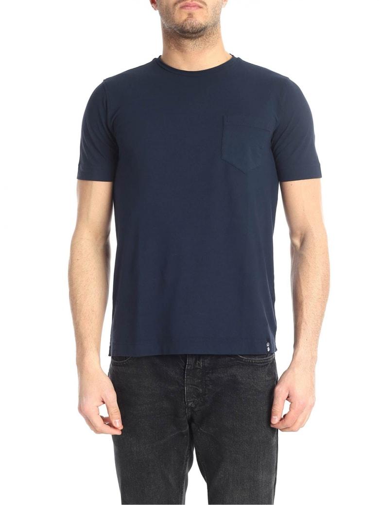 Drumohr T-shirt Cotton - Blue