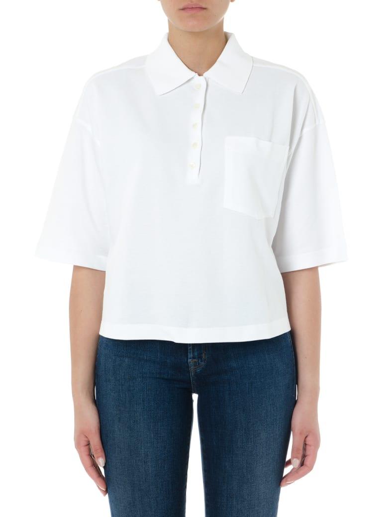 Thom Browne Oversized White Piqué Cotton Polo Shirt - White
