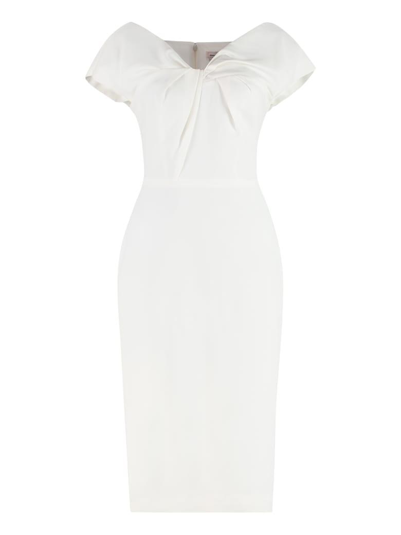 Alexander McQueen Stretch Sheath Dress - White
