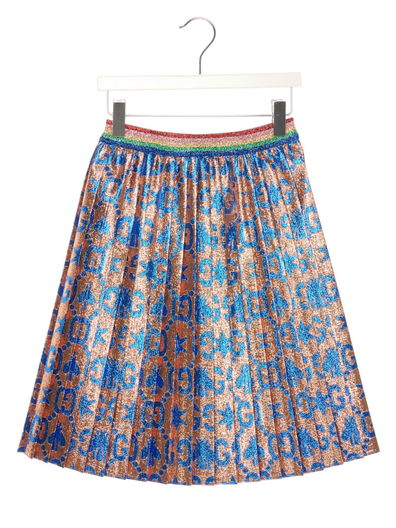 Gucci 'gg Bee Star Lamè' Skirt - Multicolor