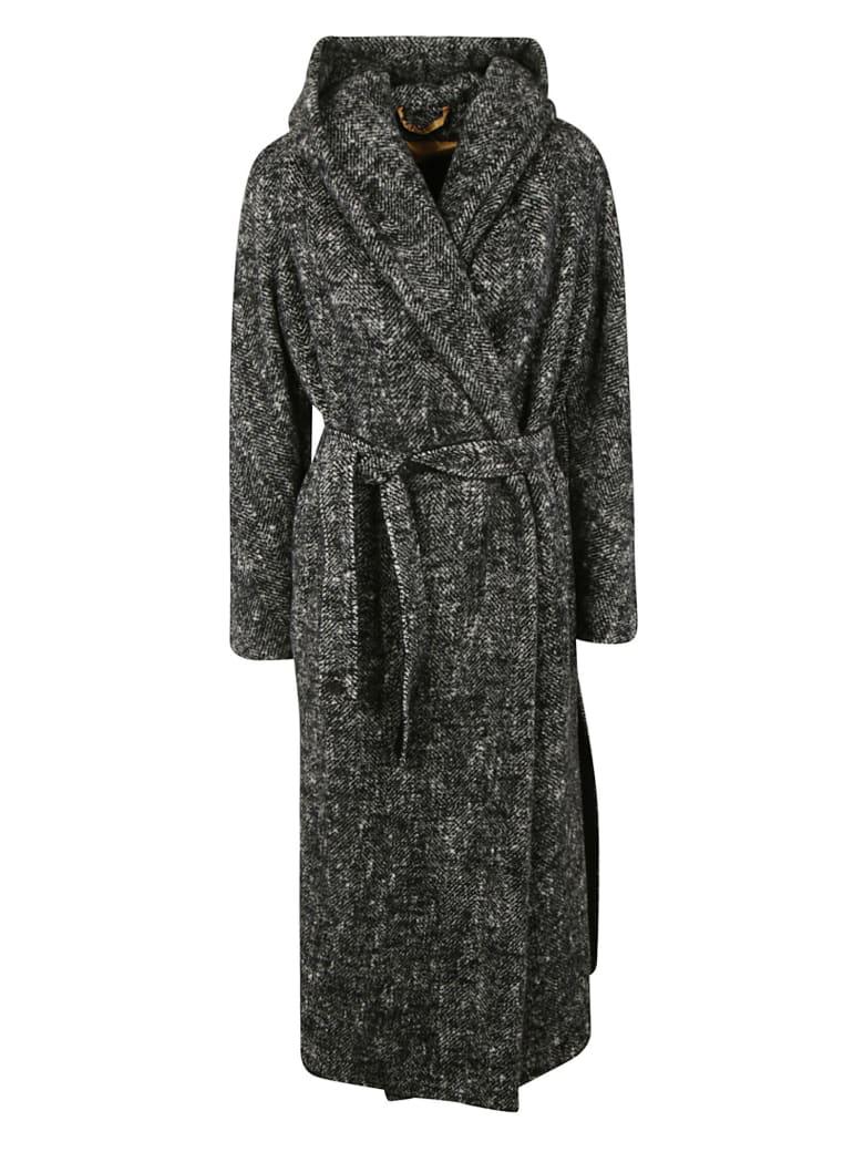 Max Mara Atelier Woven Coat - Black/White