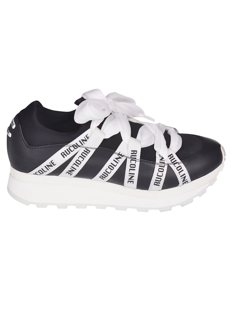 Ruco Line Logo Platform Sneakers - Black/White