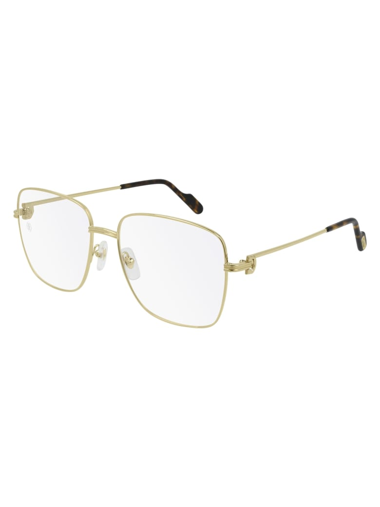 Cartier Eyewear CT0253O Eyewear - Gold Gold Transparent