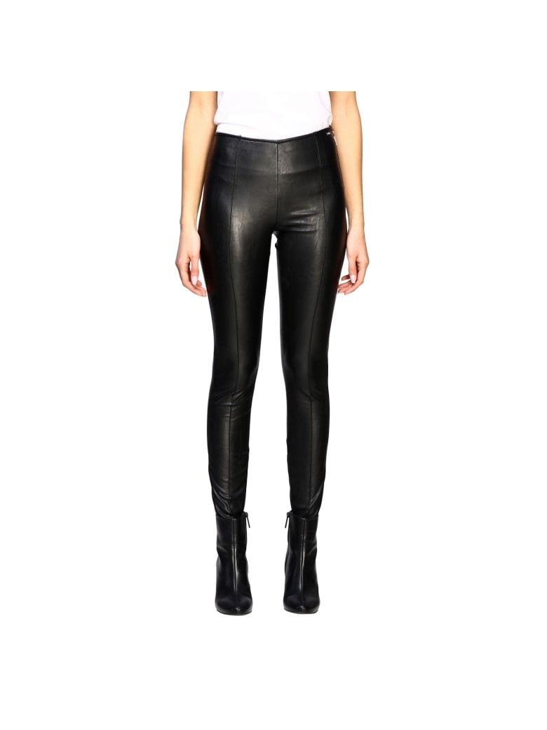 Armani Collezioni Armani Exchange Pants Armani Exchange Leggings In Synthetic Leather - black