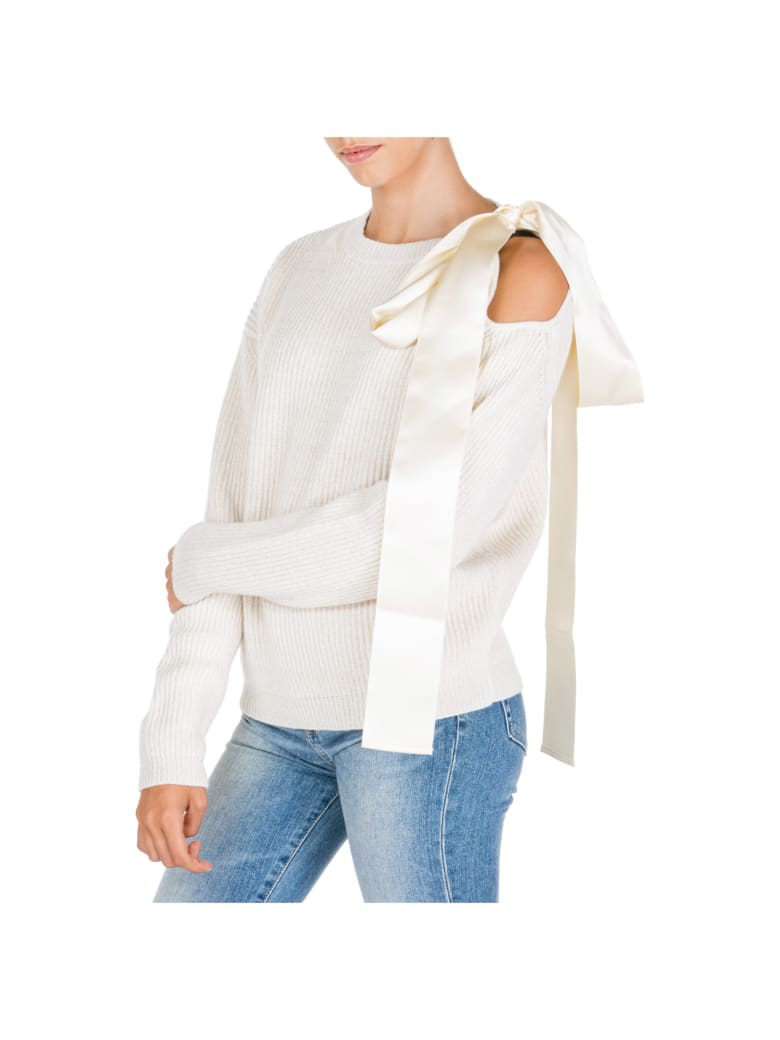 Be Blumarine  Jumper Sweater Crew Neck Round - Bianco