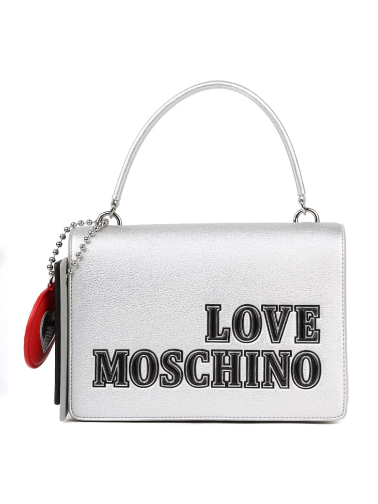 Love Moschino Love Moschino Silver Faux Leather Bag - Silver