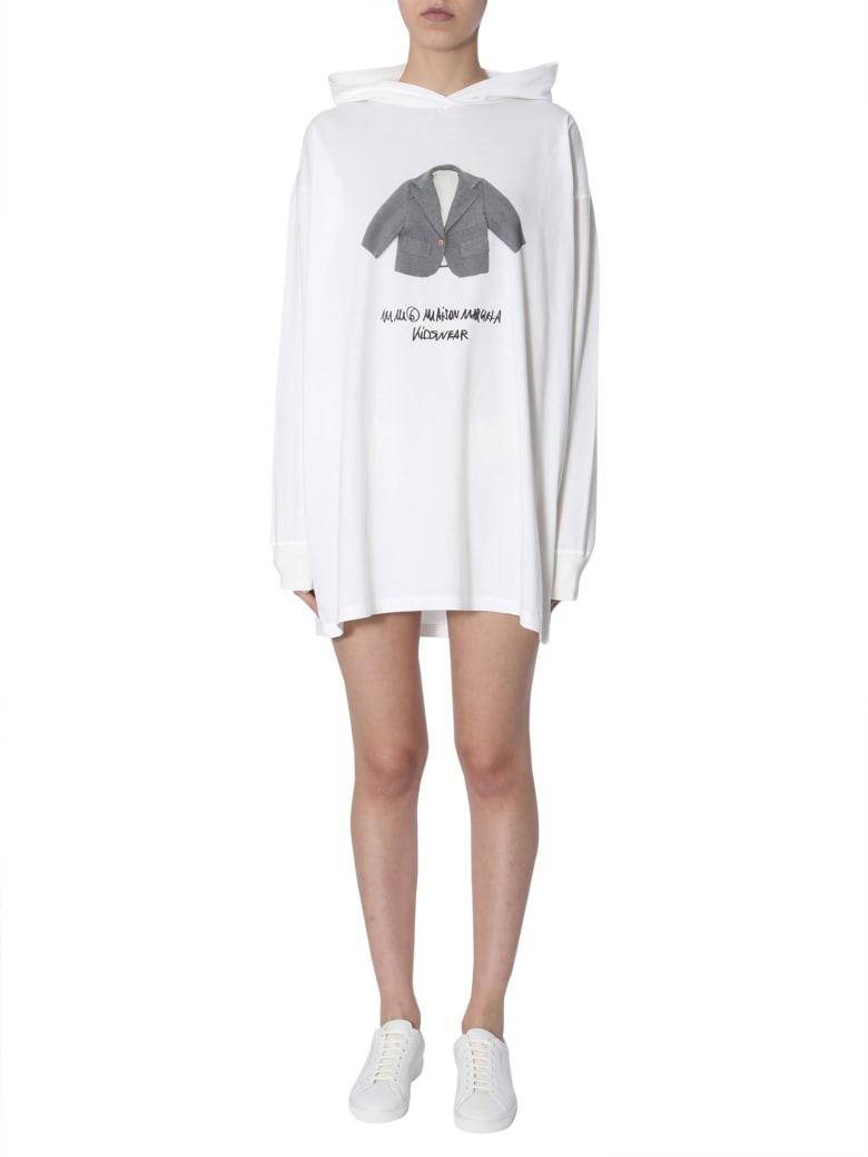 MM6 Maison Margiela Hooded Sweatshirt - BIANCO