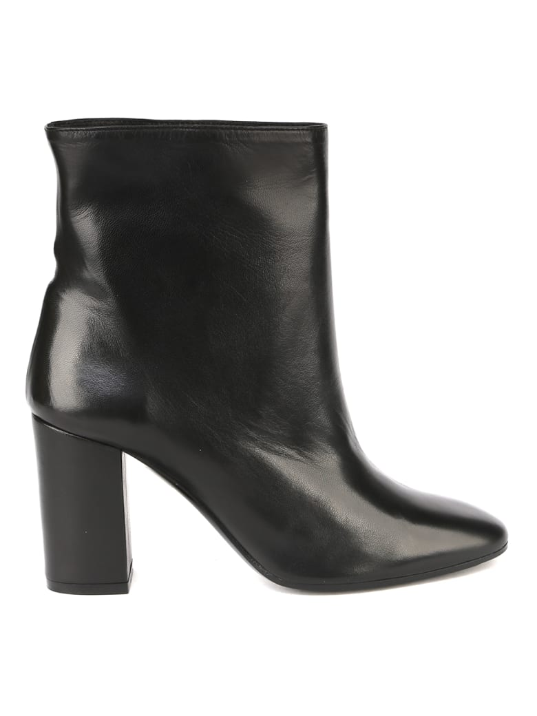 Aldo Castagna Clara Black Leather Ankle Boot - Black