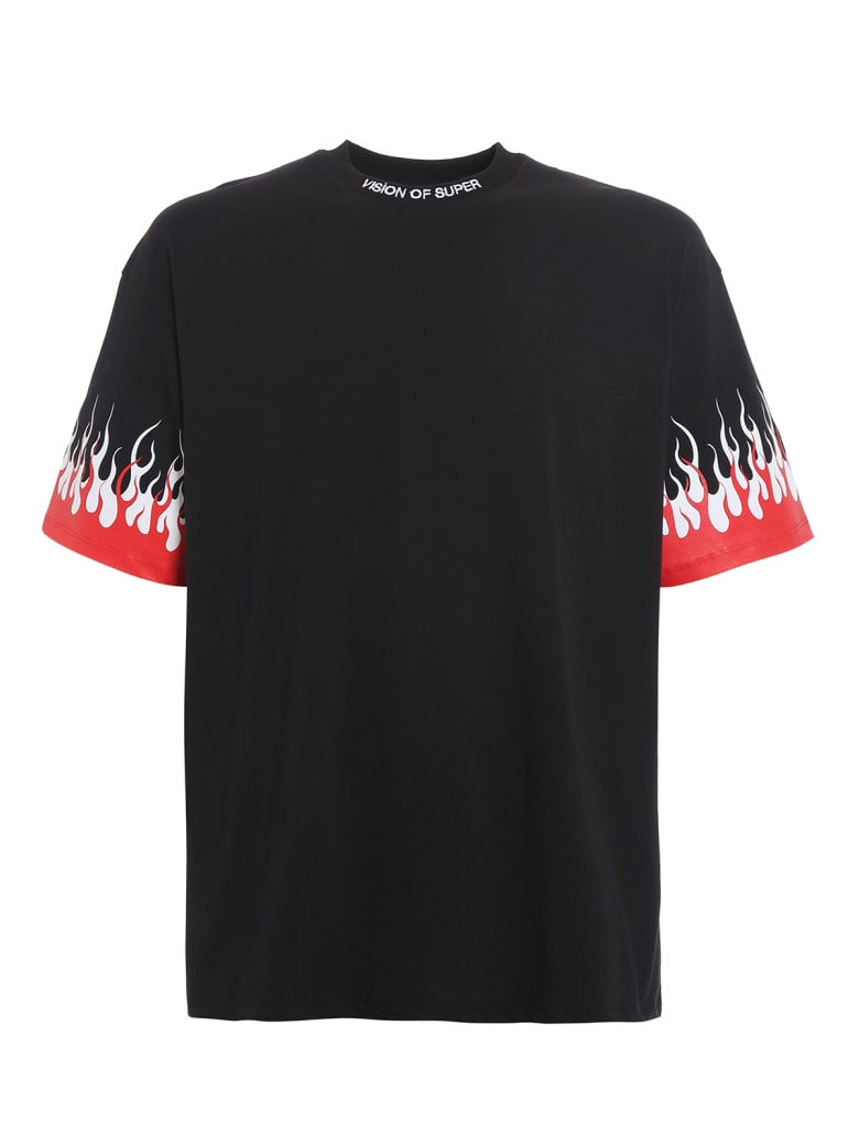 Vision of Super Tshirt Double Flames - Black