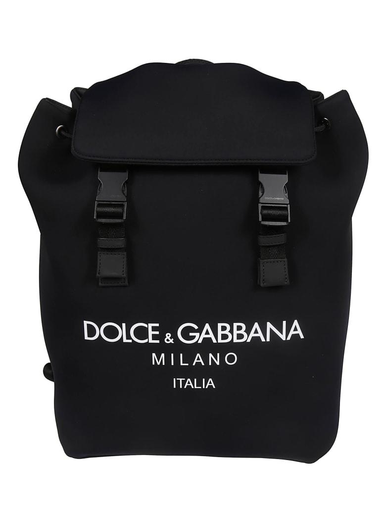 Dolce & Gabbana Logo Print Backpack - Nero