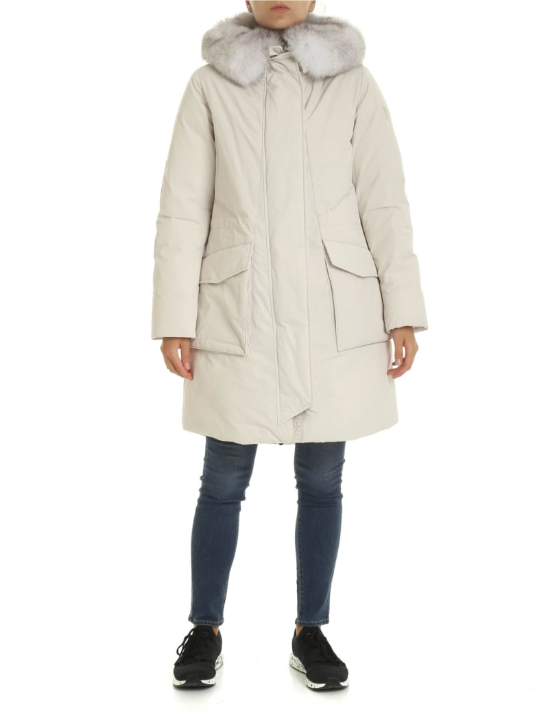 Woolrich - Military Parka Down Jacket - White