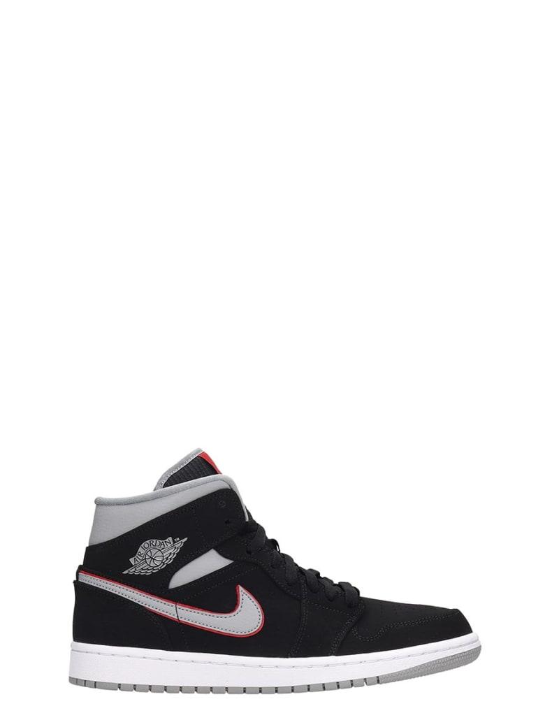 Nike Black Nubuck Air Jordan 1 Mid Sneakers - black