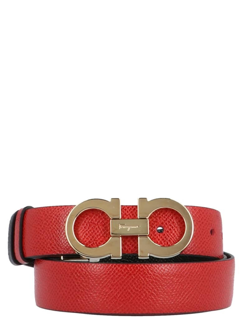 Salvatore Ferragamo 'gancini' Belt - Red