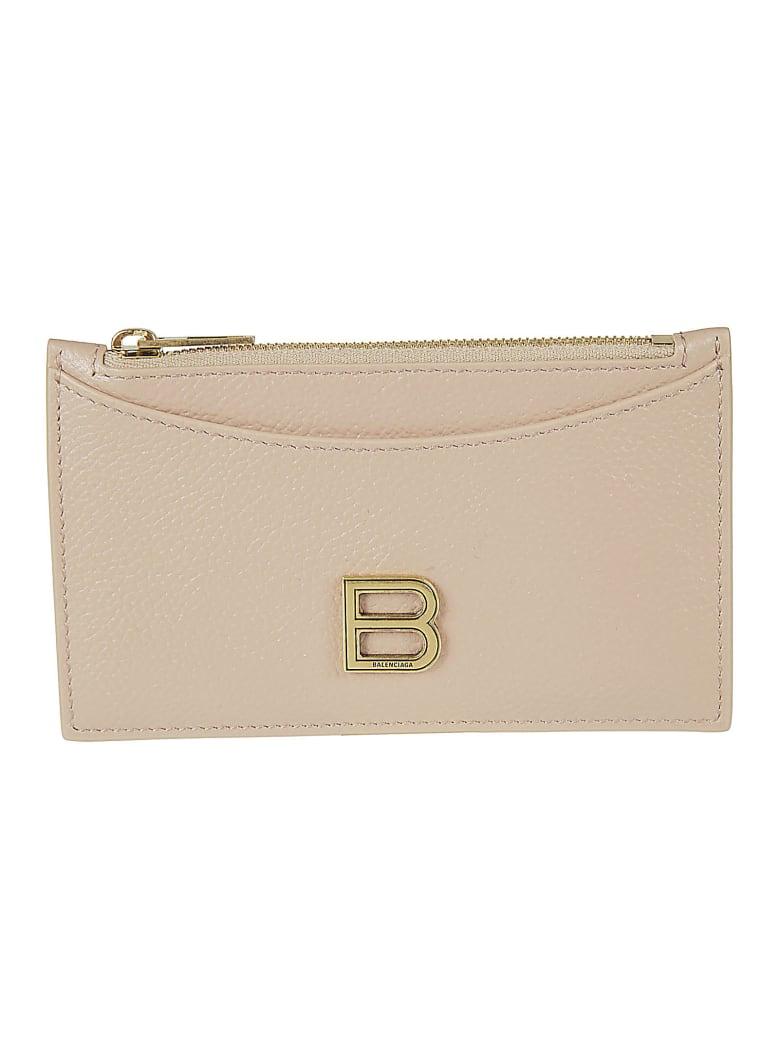 Balenciaga Logo Plaque Card Holder - Beige