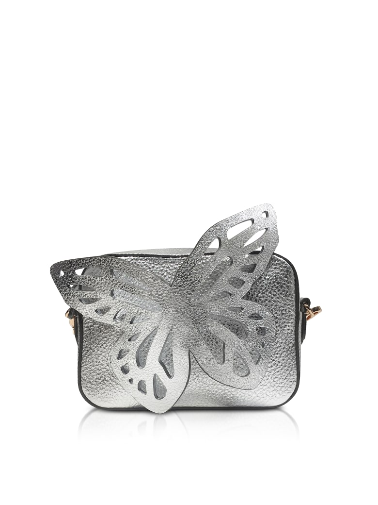 Sophia Webster Flossy Butterfly Camera Bag - Silver