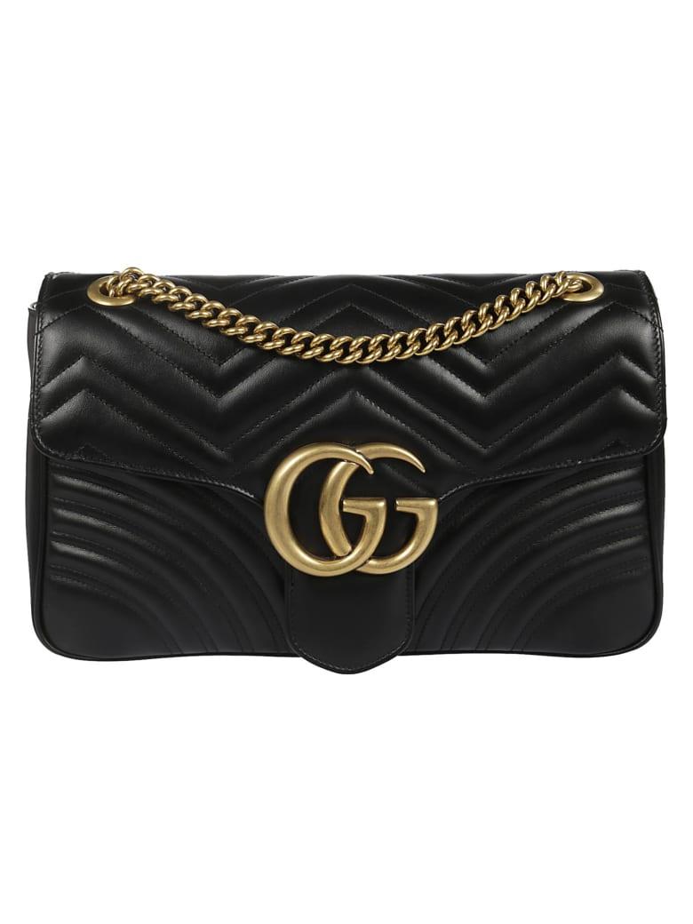 Gucci Gg Marmont Matelassé Shoulder Bag - Nero