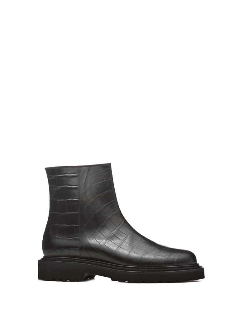 Vic Matié Vic Matié Croc Print Ankle Boots - NERO