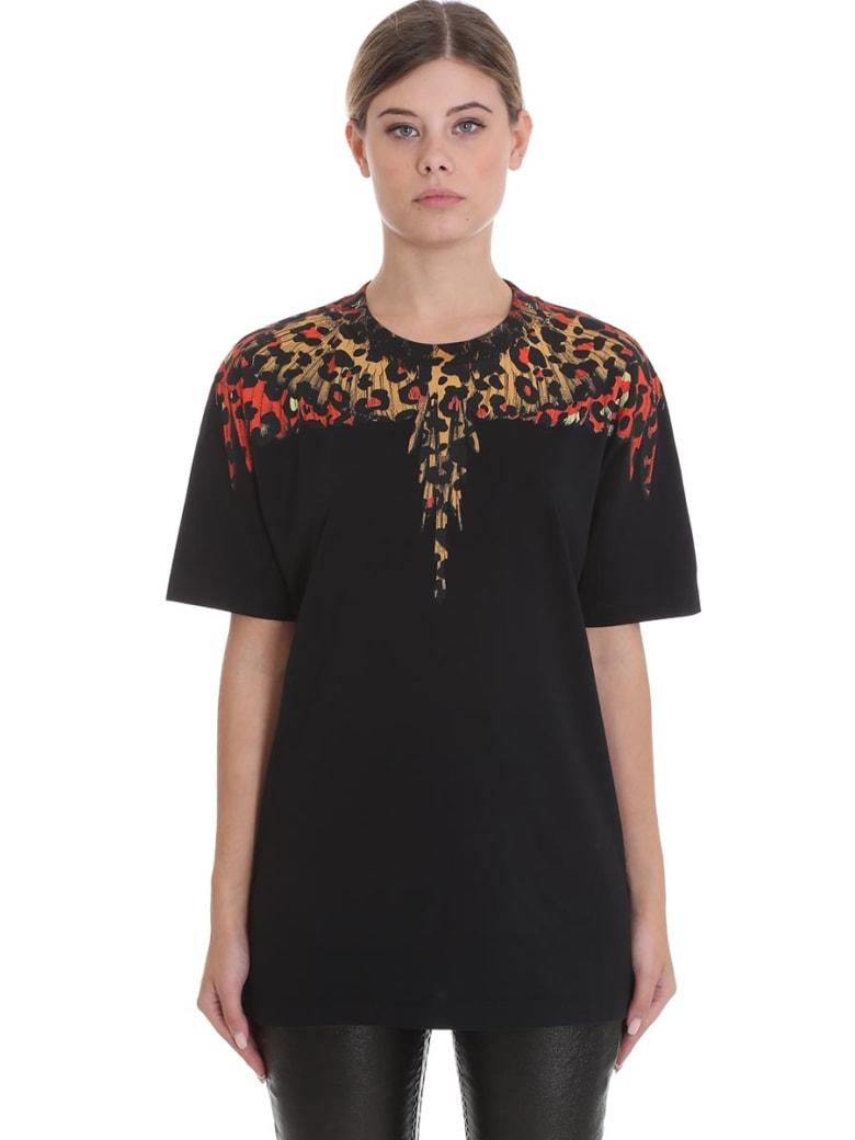 Marcelo Burlon T-shirt In Black Cotton - black