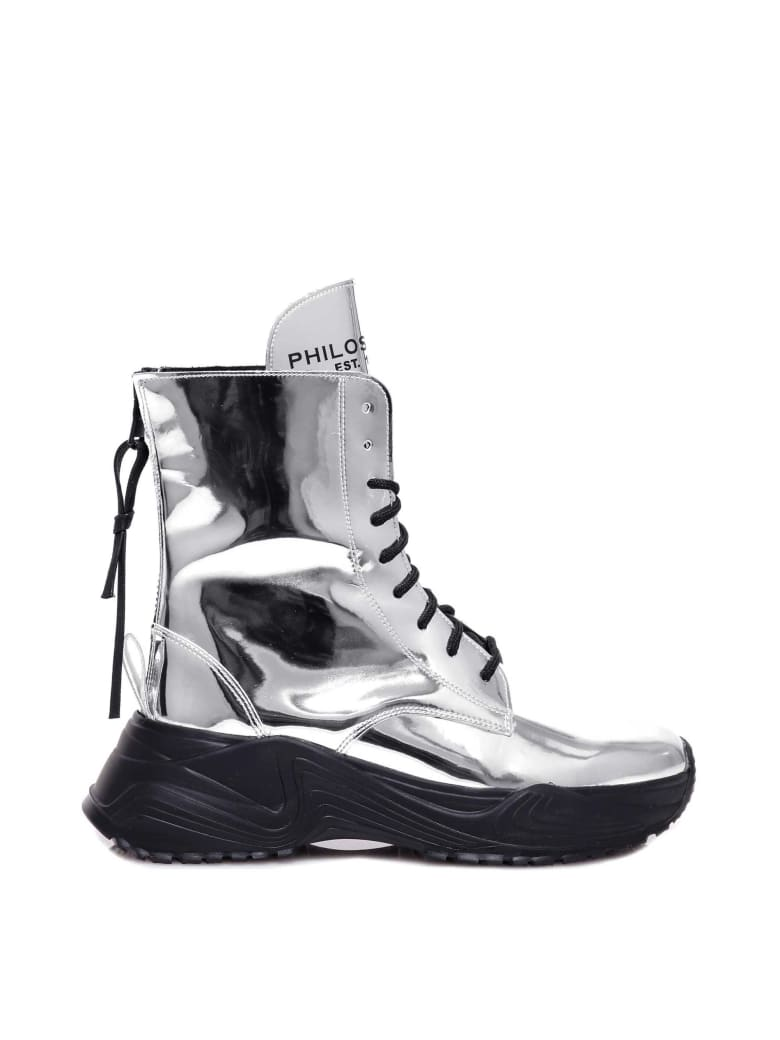 Philosophy di Lorenzo Serafini Ankle Boots - Silver