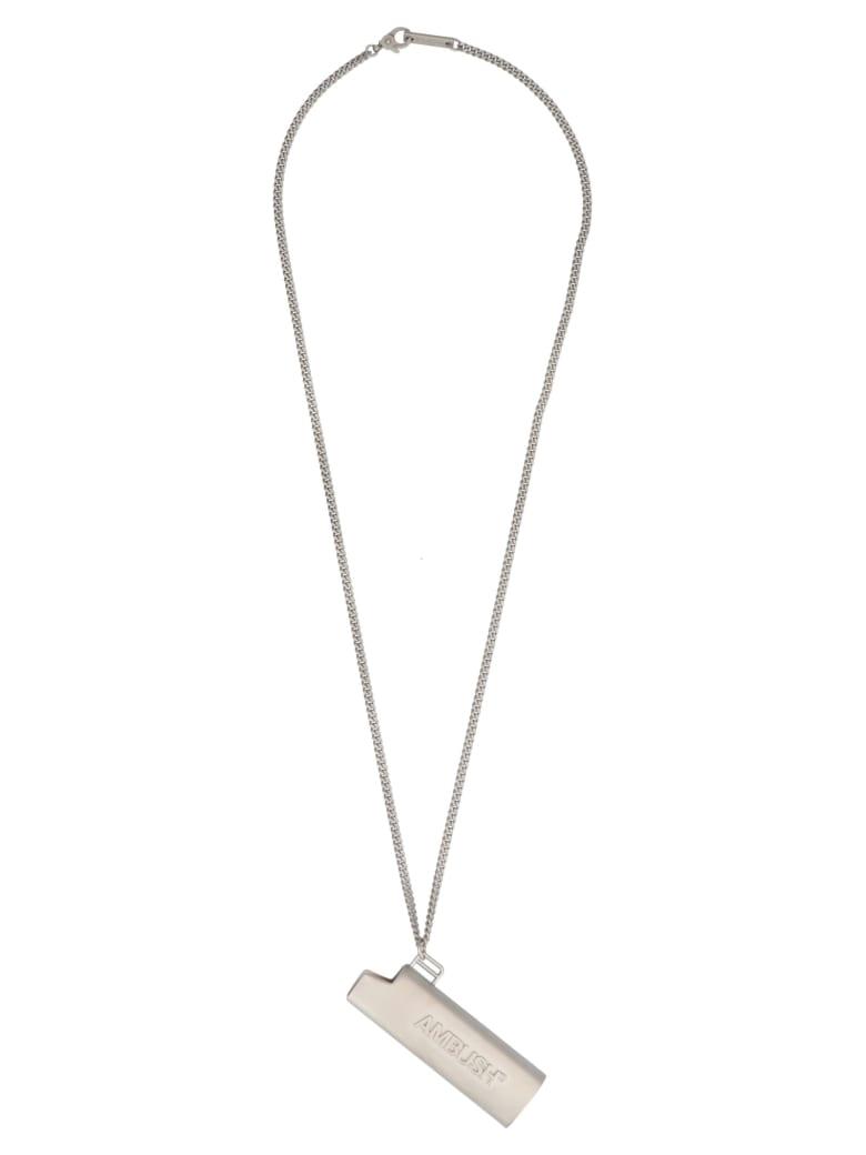 AMBUSH 'lighter Case' Necklace - Silver