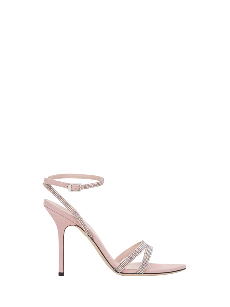 Pollini Sandals With Rhinestones - Rosa