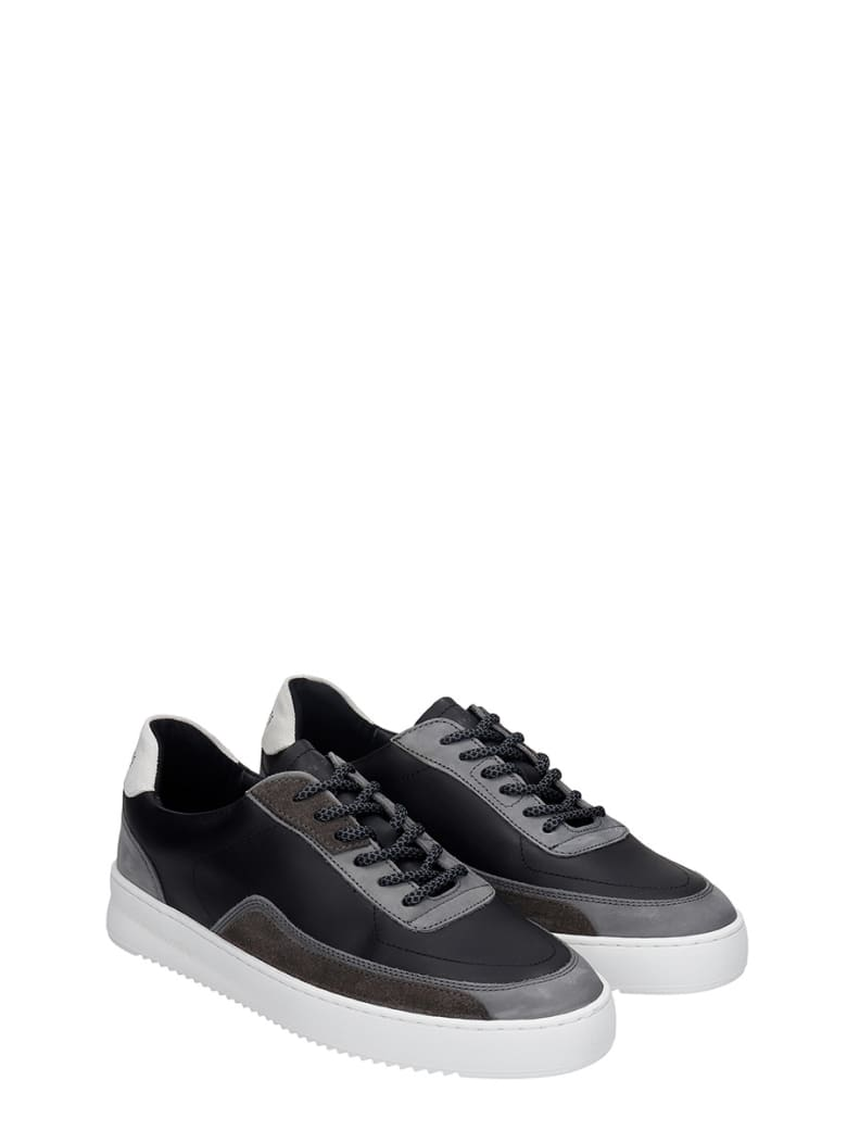 filling pieces black leather