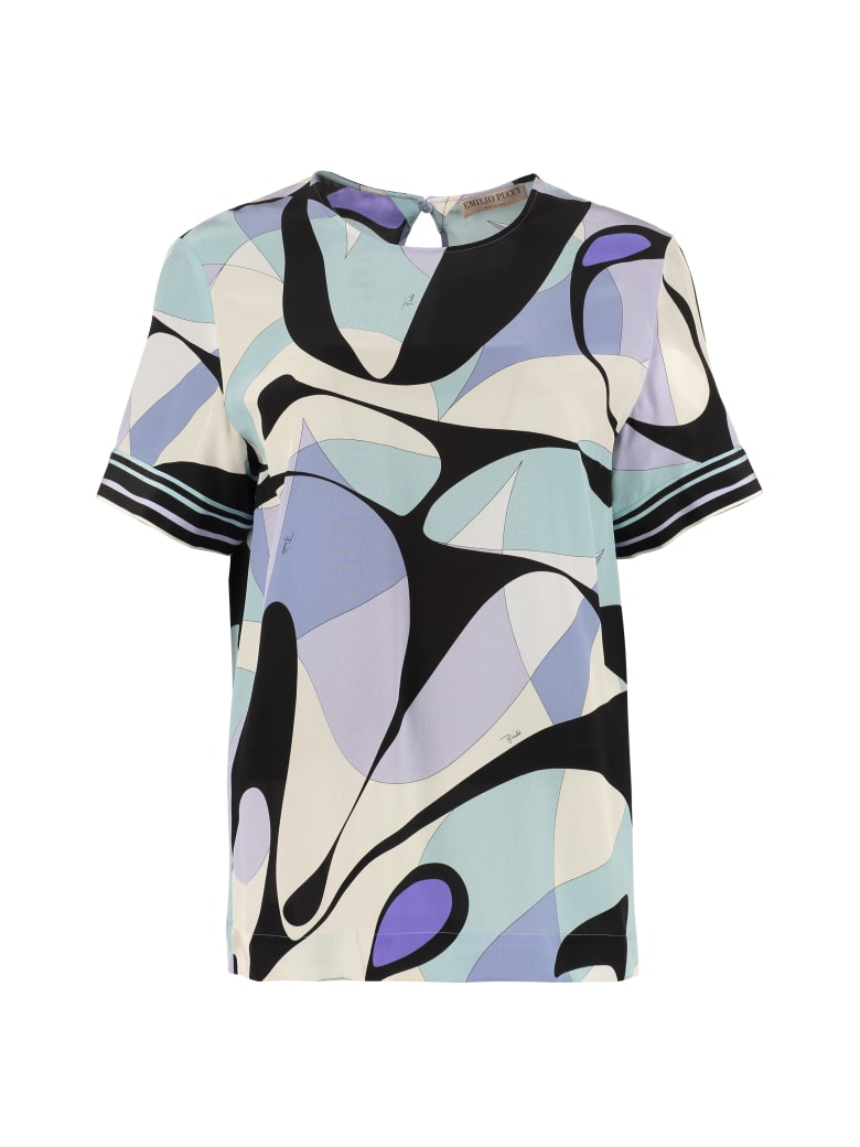 Emilio Pucci Printed Silk Blouse - Multicolor