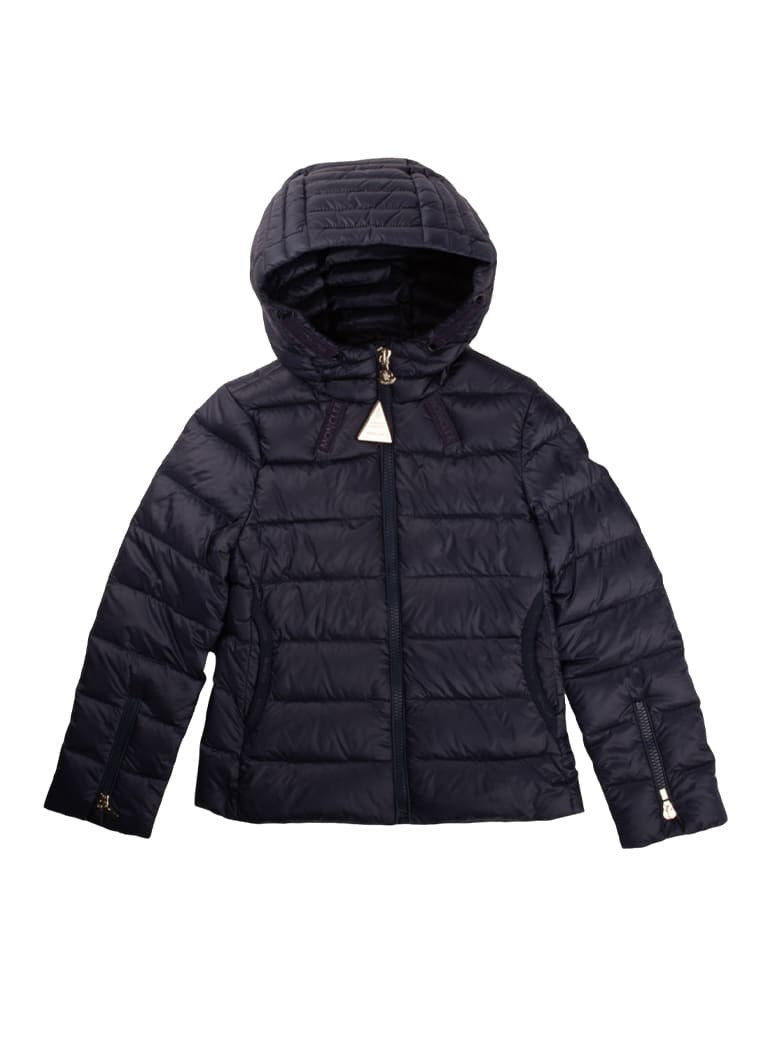 Moncler Kolia Down Jacket With Blue Hood - blue