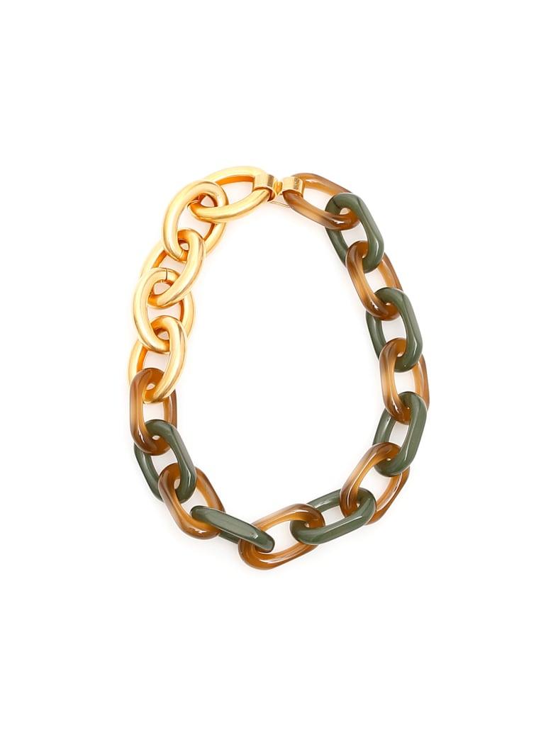 Marni Chain Necklace - GOLD (Green)