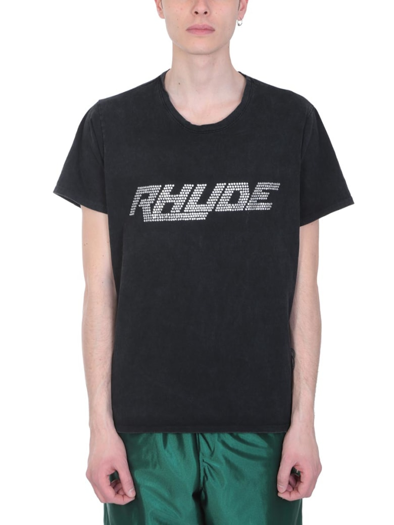 Rhude Black Cotton T-shirt - black