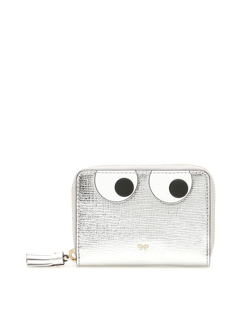 Anya Hindmarch Small Zip Around Eyes Wallet - SILVER (Silver)