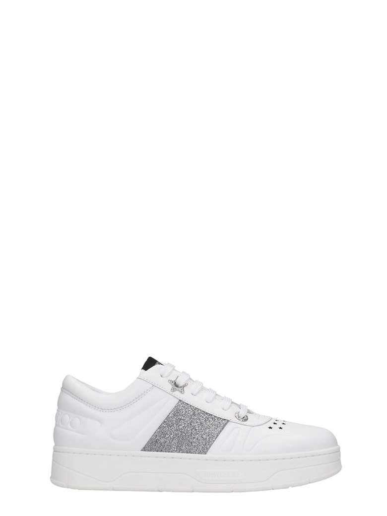 Jimmy Choo Hawaii Sneakers In White Leather - white
