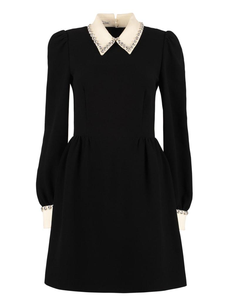 Miu Miu Cady Dress - black