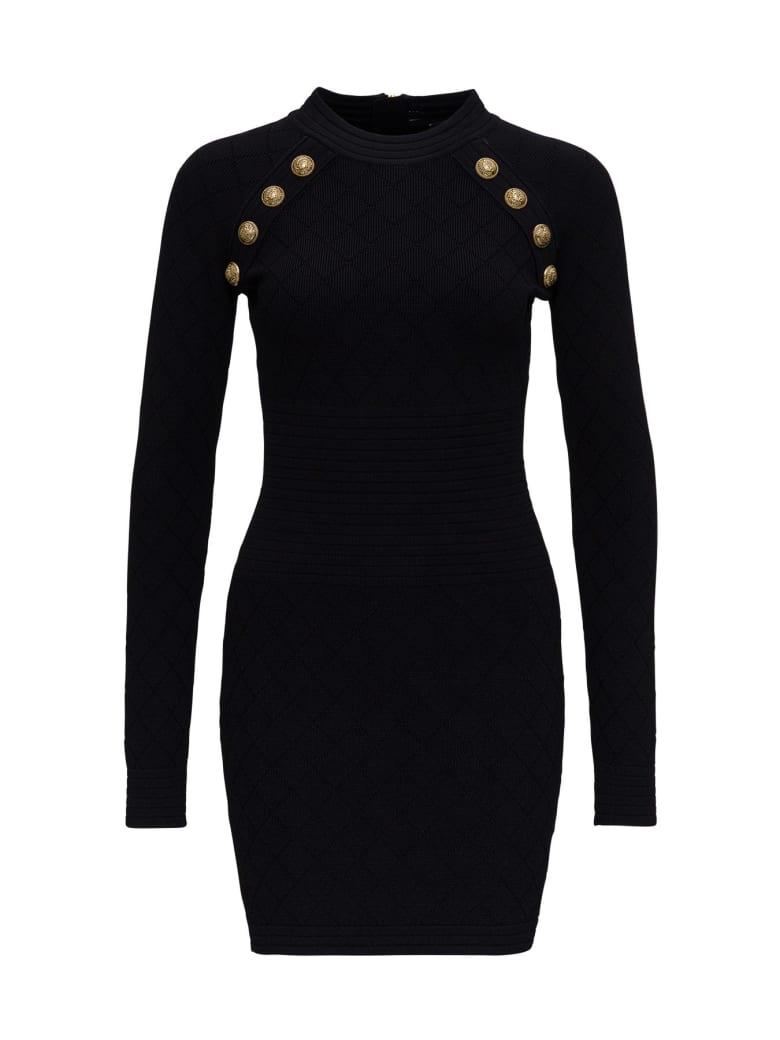 Balmain Diamond Dress - Black