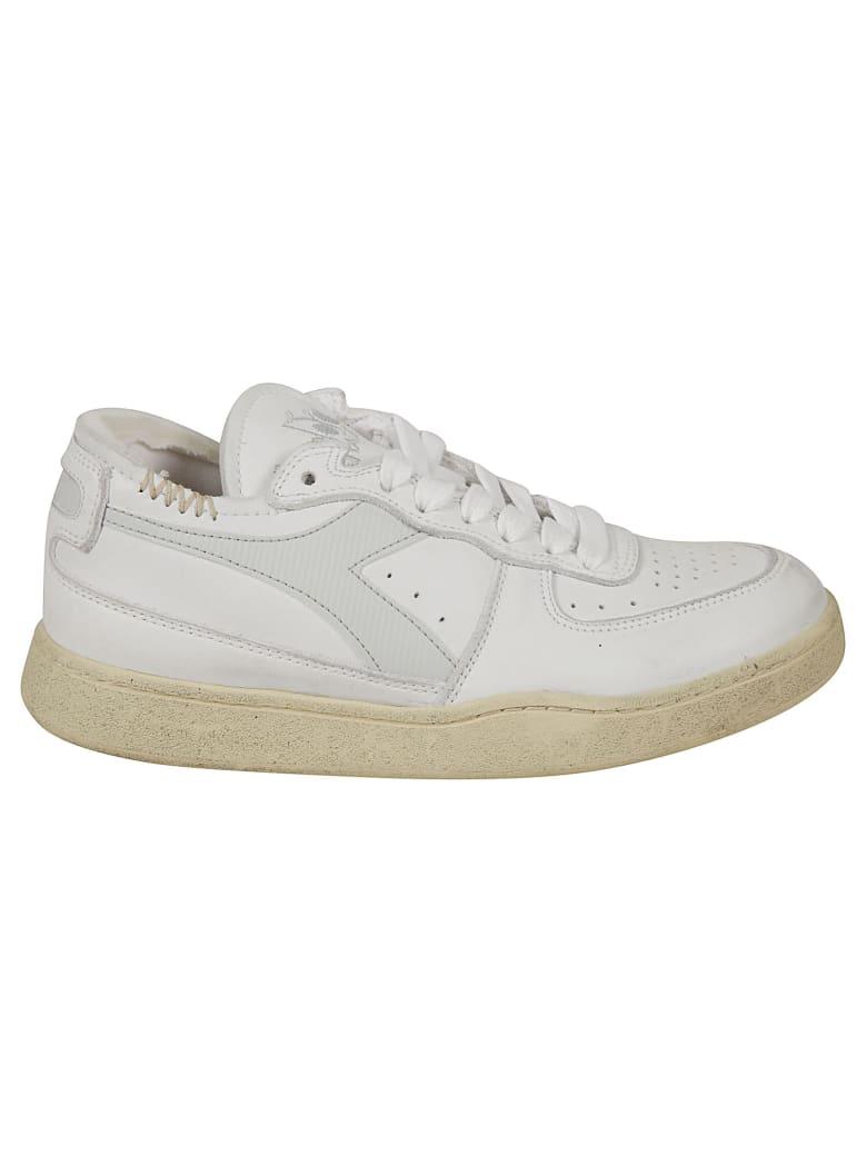 Diadora Heritage Mi Basket Row Cut Sneakers - White/Dawn Blue