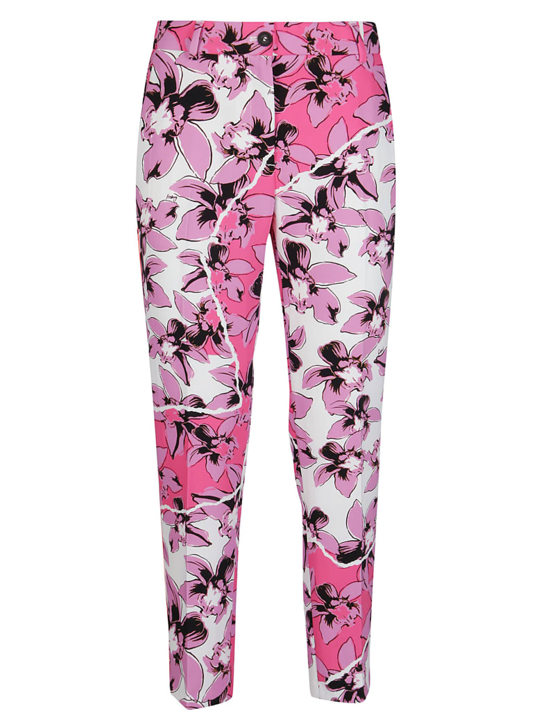Iceberg Flower Print Trousers - Multicolor