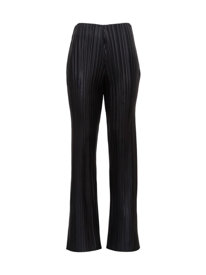 Nanushka Pleated Leatheret Pants - Black