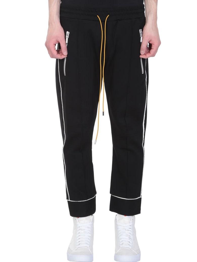 Rhude Smoking Black Nylon Pants - black