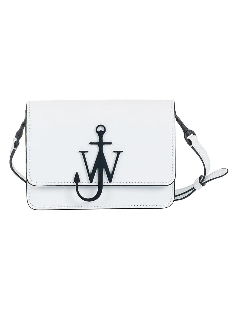 J.W. Anderson Mini Logo Shoulder Bag - White Black