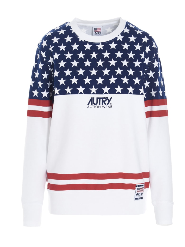 Autry Sweatshirt - WHITE/BLUE