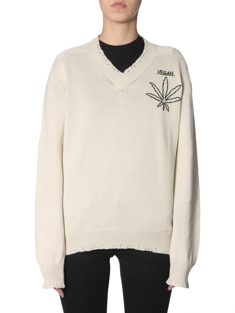 Riccardo Comi Vegan  Embroidered Jersey - BEIGE