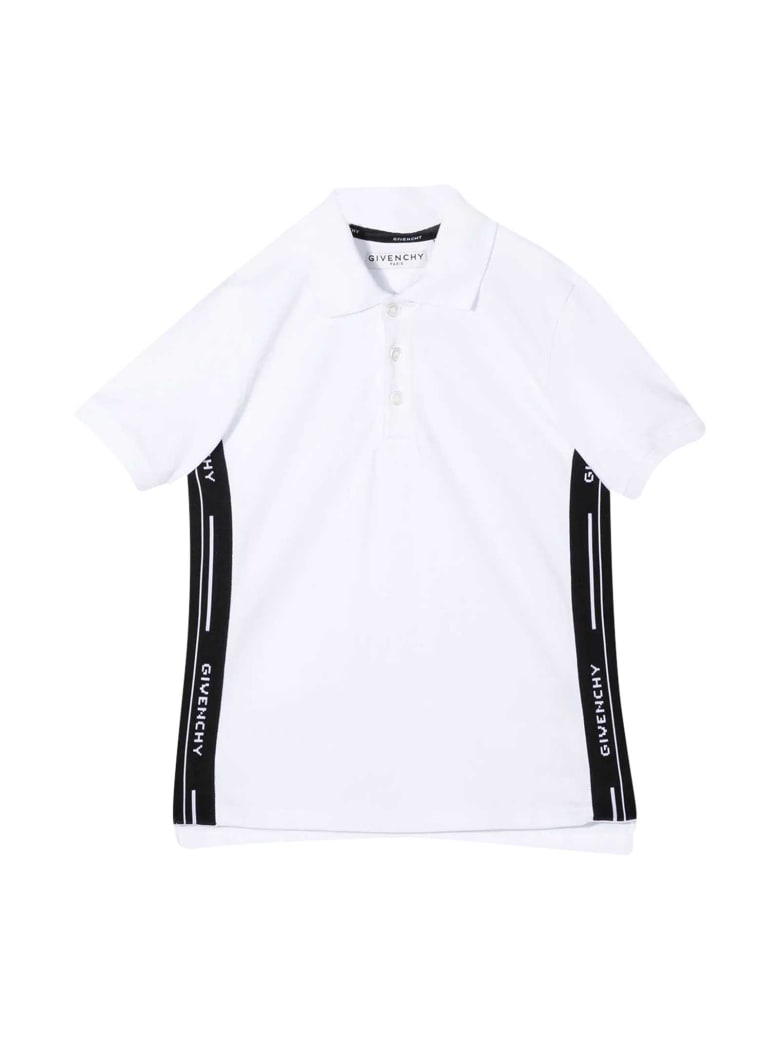 Givenchy Newborn White Polo Shirt - Bianco