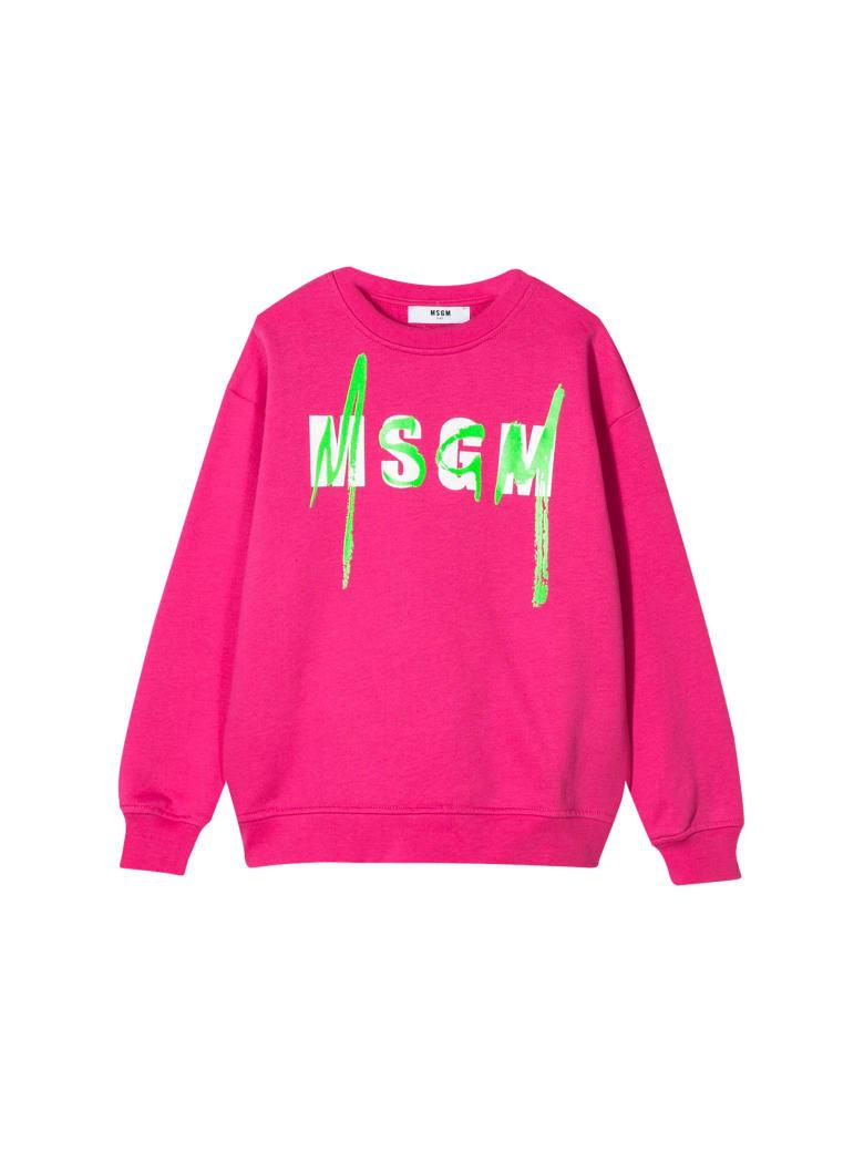MSGM Kids Printed Sweatshirt - Fucsia